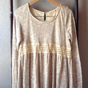 *BOHO* Altar'd State Crocheted Long Sleeve Dress